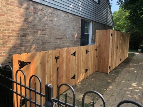 Cedar 4 and 5ft privacy fence with gates
