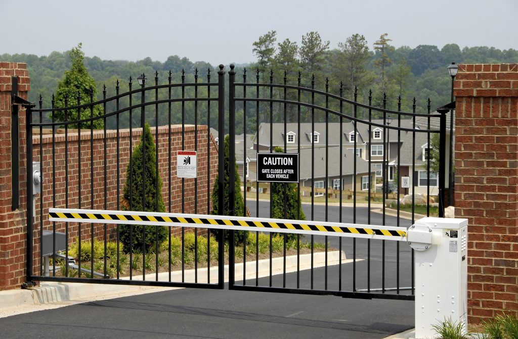 Commercial Fence with Security Gate West Chester Ohio