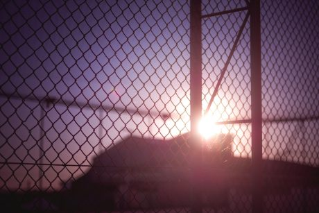 commercial chain link security fence
