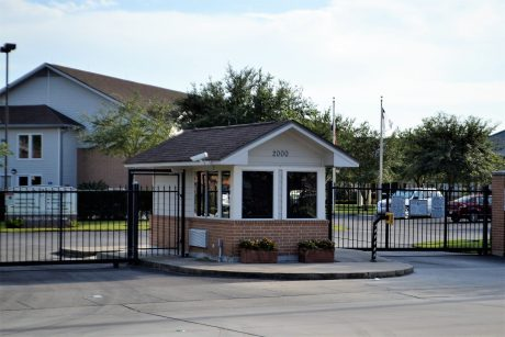 security entry gate with operator - commercial fence company