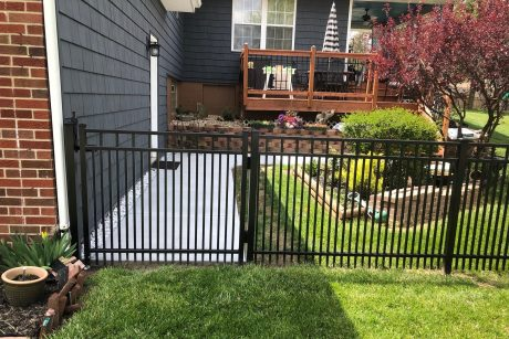 Residential Aluminum Fence with Puppy Panel
